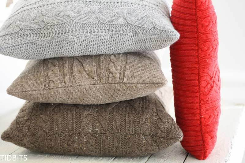 sweater throw pillows