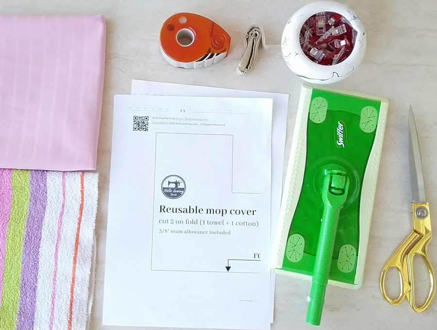 reusable mop cover supplies