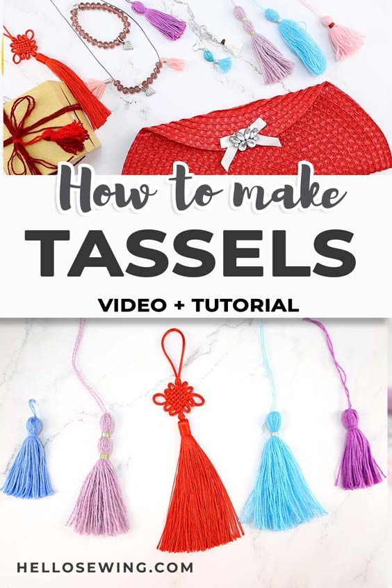 how to make tassels - diy tassels 2 ways