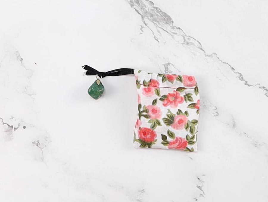 diy tea bag with attached charm
