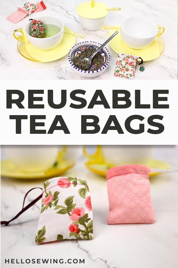Reusable tea bags tutorial