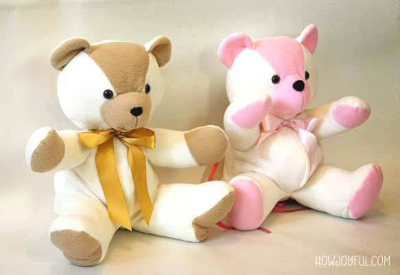 free stuffed teddy bear sewing pattern