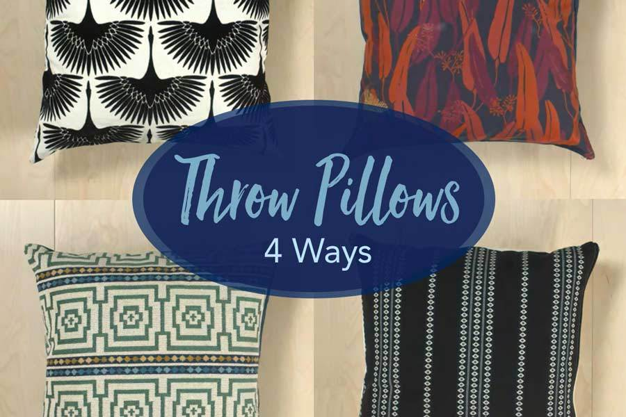 4 ways to make throw pillows