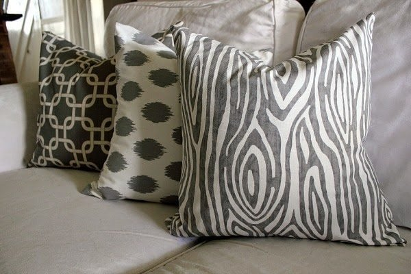 throw pillows out of single piece of fabric