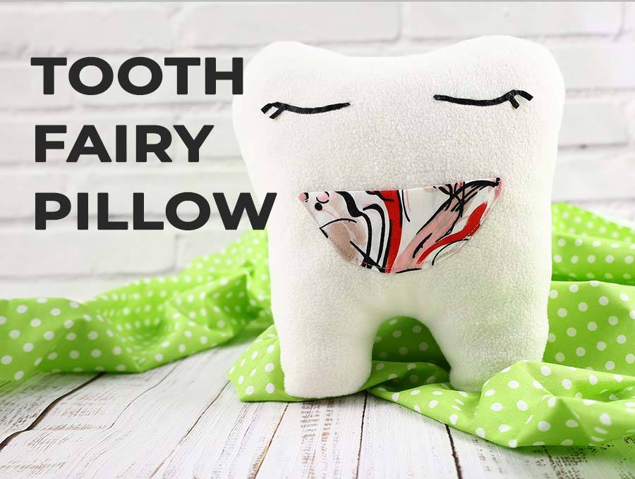 tooth airy pillow pattern and tutorial