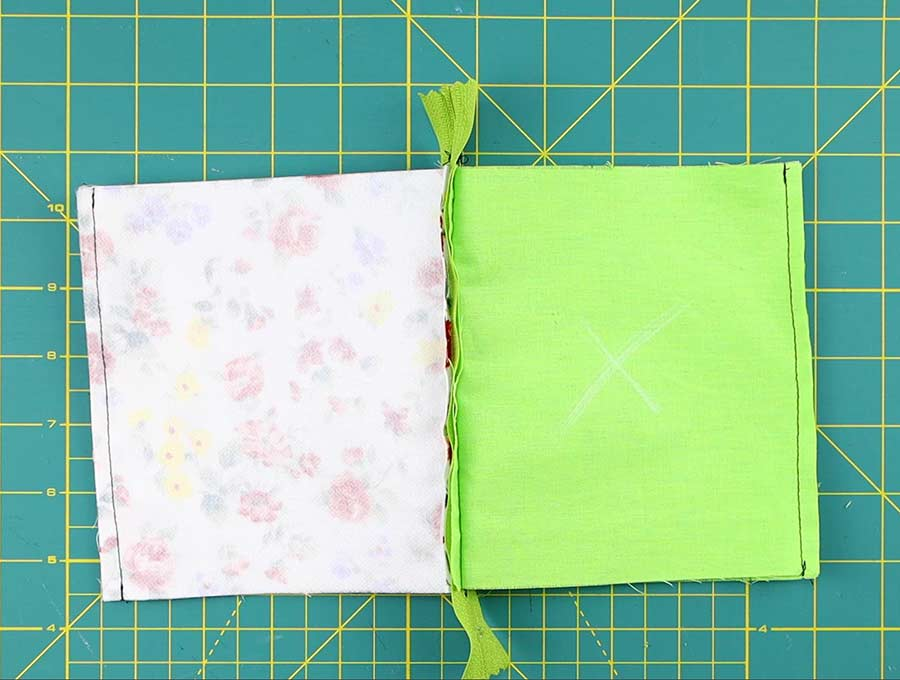 sew the sides of the triangle coin purse