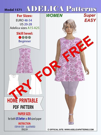 classic tunic pattern for plus size