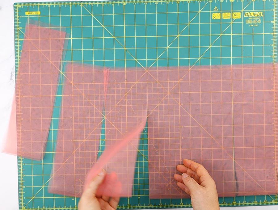 making a tutu - cutting strips