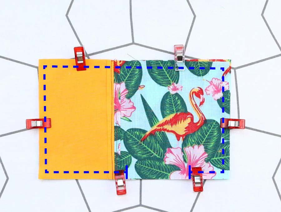 vaccination record card holder stitching lines