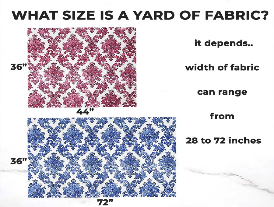 what size is a yard of fabric