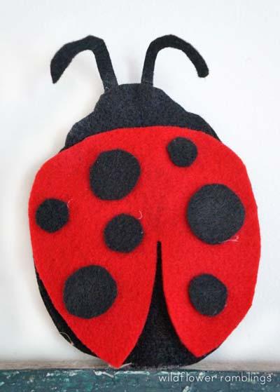 free felt ladybug pattern